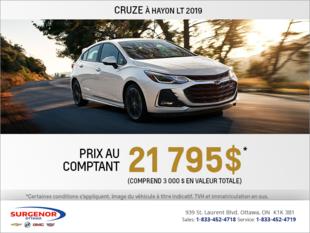 Obtenez la Chevrolet Cruze 2019 à hayon