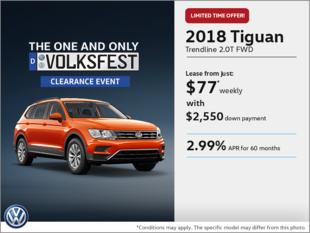 Get the 2018 Tiguan!