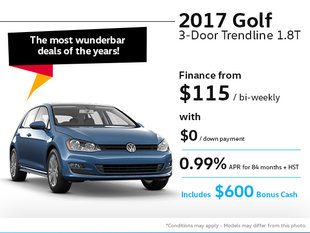 Drive home the 2017 Volkswagen Golf