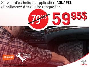 Application Aquapel à 59,95$!