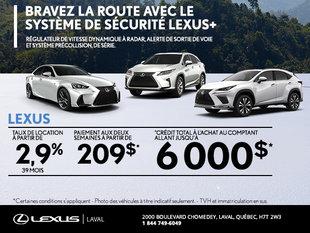 Bravez la route avec le système de sécurité de Lexus+