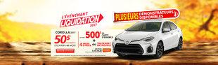 Évènement Liquidation 2017 - Automne Corolla