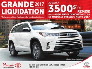 Grande liquidation - Highlander 2017