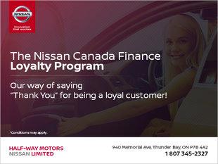 The Nissan Canada Finance Loyalty Program