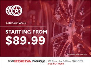 Custom Alloy Wheels from $89.99