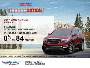 Save on the 2017 GMC Acadia!