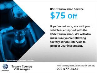 $75 Off Your DSG Transmission Service!