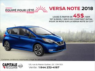 Louez la Nissan Versa Note 2018! chez Capitale Nissan