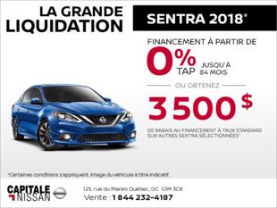 La Nissan Sentra 2018 chez Capitale Nissan