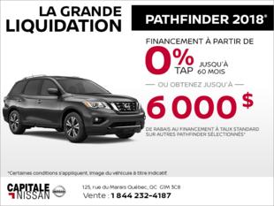 Le Nissan Pathfinder 2018 chez Capitale Nissan