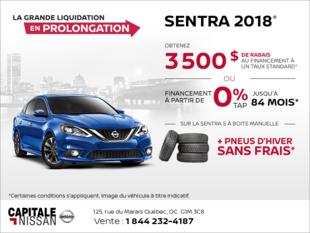 Obtenez la Nissan Sentra 2018 dès aujourd'hui! chez Capitale Nissan