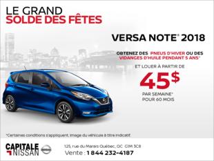 Obtenez le Nissan Versa Note 2018 dès aujourd'hui! chez Capitale Nissan