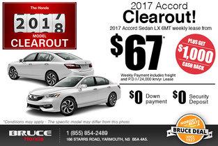 Get the 2017 Honda Accord!
