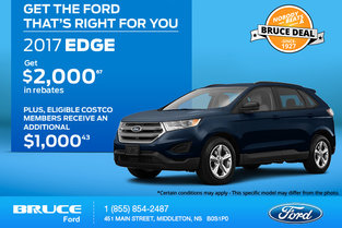 Save Big on the 2017 Ford Edge