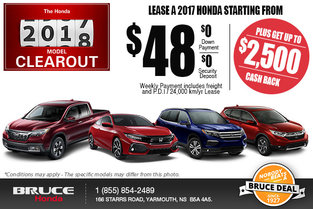 Honda's 2017 Model Clearout!