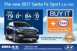 Save Big on the 2017 Santa Fe Sport 2.4L FWD!