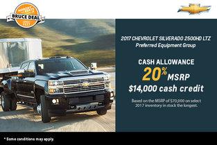 Get the 2017 Chevrolet Silverado 2500HD Today!