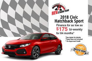 Get the 2018 Civic Hatchback Sport!