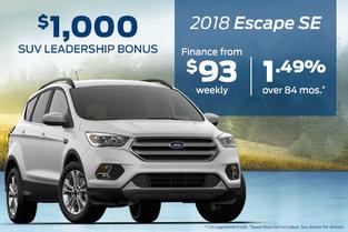 Get the 2018 Ford Escape SE