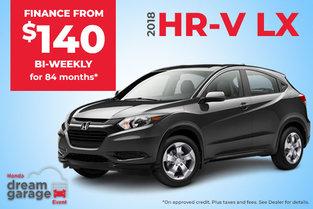 Get the 2018 Honda HR-V LX
