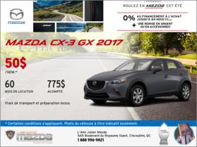 Louez la toute nouvelle Mazda CX-3 2017
