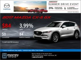 Get the All-New 2017 Mazda CX-5 GX Today!
