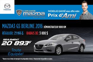 Le prix d'Ami sur le Mazda3 GS Berline 2016