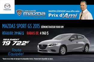 Le prix d'Ami sur le Mazda3 Sport GS 2015