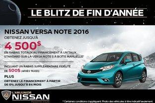 Nissan Versa Note 2016 en rabais!