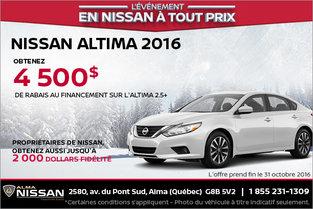 Nissan Altima 2016 en rabais