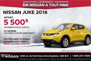 Nissan Juke 2016 en rabais
