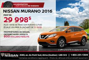Nissan Murano 2016 en rabais