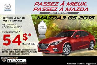 Louez la Mazda3 GS 2016
