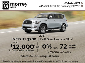 2017 Infiniti QX80 at Morrey Infiniti
