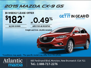 Save on a 2015 Mazda CX-9 GS today