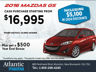 Get the 2016 Mazda5 GS Today!