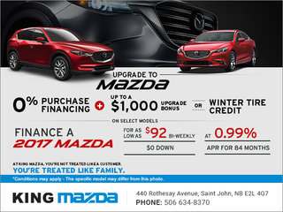 King Mazda's Monthly Sales Event