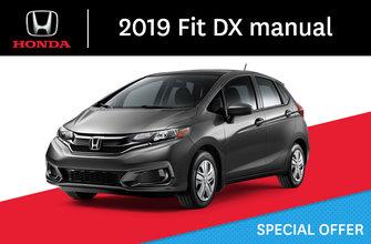 2019 Honda Fit DX manual