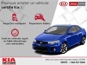 Pourquoi acheter un véhicule certifié Kia ?