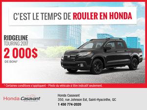 Honda Ridgeline 2017 en rabais!