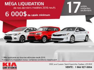 Méga liquidation 2016