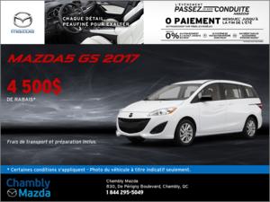 La Mazda5 GS 2017 en rabais!