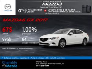 Offrez-vous la Mazda6 GX 2017!