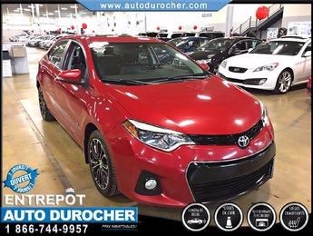 Toyota Corolla S TOUT ÉQUIPÉ CUIR SIÈGES CHAUFFANTS CAMÉRA 2014
