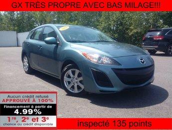 Mazda Mazda3 2011 GX TRÈS PROPRE AVEC BAS MILAGE!!!