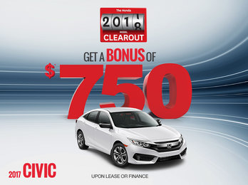 Lease a 2017 Civic Today!
