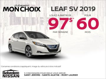 Louez la Nissan Leaf 2019 dès aujourd'hui!