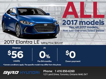 Get the 2017 Hyundai Elantra LE Today!
