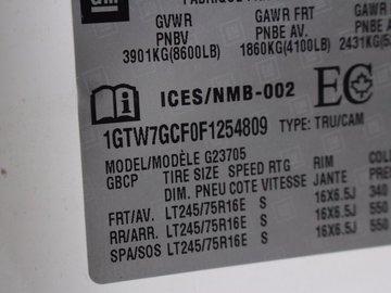 2015 GMC Savana 2500 4.8L 8 CYL AUTOMATIC RWD CARGO VAN
