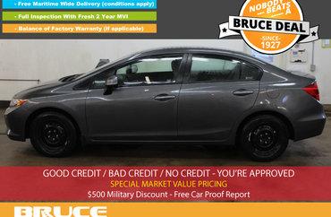 2012 Honda Civic LX 1.8L 4 CYL I-VTEC 5 SPD MANUAL FWD 4D SEDAN | Photo 1